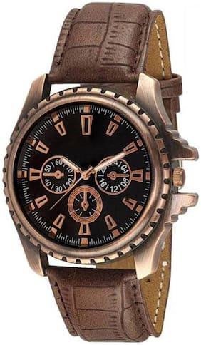 AJ Stylish Brown Copper Wrist Watch For Boy's