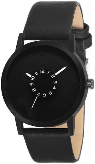 AJ Stylish Black Skemi Wrist Watch - For Boys
