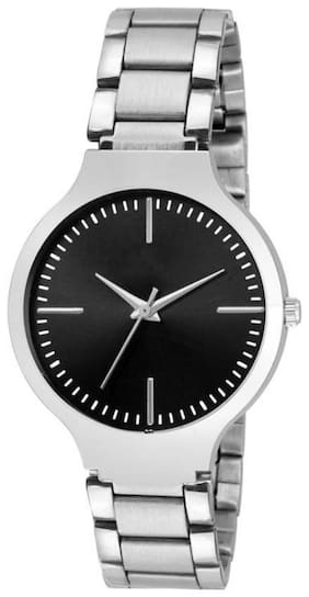 AJ Stylish New Arrival Black Dial Steel Belt Watch For Women