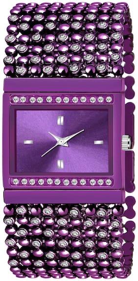 Women Purple Analog Watch