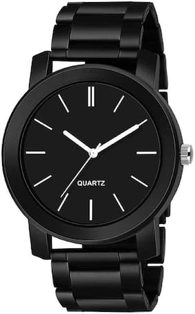 Ak Men_32 Black Round Dial Black Metal New Arrival Analog Watch For Men