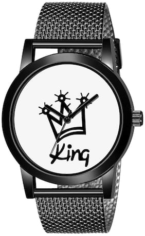 Ak Men_470 King Belt New Arrival Round Dial Analog Quartz Watch For Men