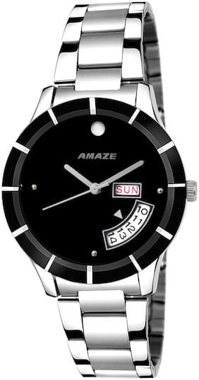 Amaze Black Day And Date Analog Girls And Women Watch-CT96
