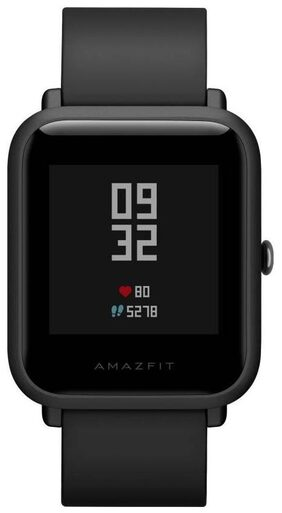 Amazfit Bip Bluetooth Fitness Tracker Smartwatch with Heart Rate Monitor (Onyx Black)