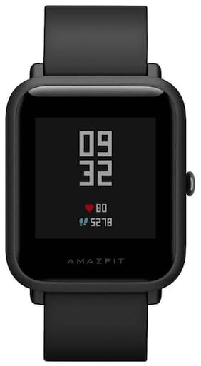 51c3a045c66 Amazfit Bip Bluetooth Fitness Tracker Smartwatch with Heart Rate Monitor  (Onyx Black)