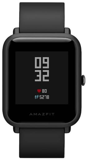 8b26059e8dc1 Amazfit Bip Bluetooth Fitness Tracker Smartwatch with Heart Rate Monitor  (Onyx Black)