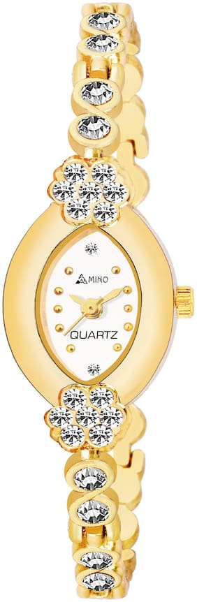 AMINO BANGLE-912 White DIAL BENGAL WATCH FOR WOMEN And Girls