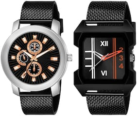 Amino K_506_479 Analog Quartz Pack Of 2 Watch For Men And Boys