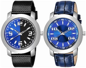Amino K_509_511 Analog Quartz Pack Of 2 Watch For Men And Boys