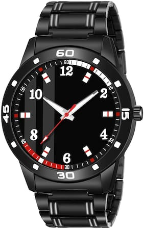 Amino K_61 Metal Black Round Dial Analog Quartz Watch