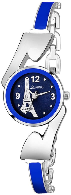 AMINO LADIES-810 BLUE DIAL EIFFEL TOWER NEW ARRIVAL BANGLE ANALOG WATCH FOR GIRLS AND WOMEN