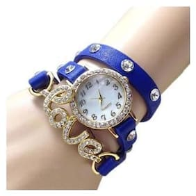Analogue Blue Dial Womens & Girls Watch-AE67