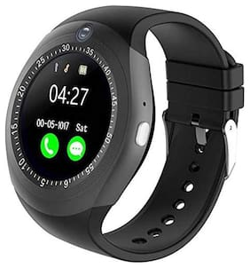 Android Smart Watch for Men Y1S | BT 3.0 Support SIM and TF Card Camera App Like Social Media Compatible with All Android and iOS Phone -Y1S Black