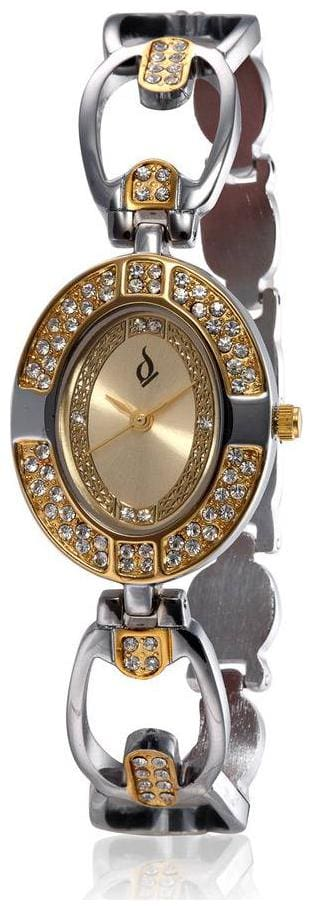 Anno Dominii London AD Studded Two Tone Wrist Watch