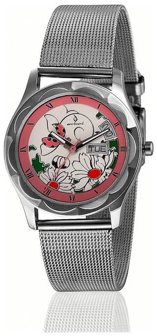 Anno Dominii London Floral Time;Day;Date Wrist Watch