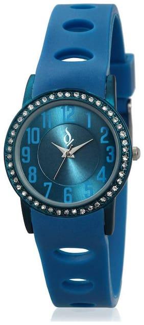 Anno Dominii London AD Studded Blue Wrist Watch