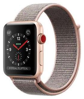 Apple Watch Series 3 GPS + Cellular;42mm Gold Aluminium Case with Pink Sand Sport Loop