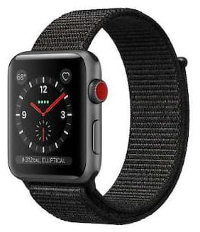 Apple Watch Series 3 GPS + Cellular;38mm Space Grey Aluminium Case with Black Sport Loop