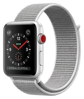 Apple Watch Series 3 GPS + Cellular;42mm Silver Aluminium Case with Seashell Sport Loop