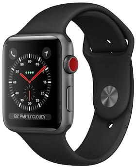 Apple Watch Series 3 GPS + Cellular;42mm Space Grey Aluminium Case with Grey Sport Band