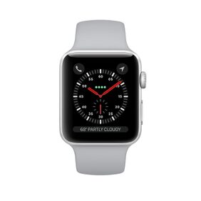 Apple Watch Series 3 GPS;38mm Silver Aluminium Case with Fog Sport Band