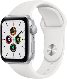 Apple Watch SE GPS 40mm Silver Aluminium Case With White Sport Band - Regular