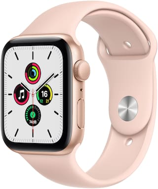Apple Watch SE GPS 44mm Rose Gold Aluminium Case With Pink Sport Band - Regular