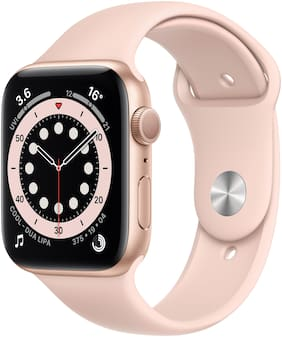 Apple Watch Series 6 GPS 44mm Rose Gold Aluminium Case With Pink Sport Band - Regular