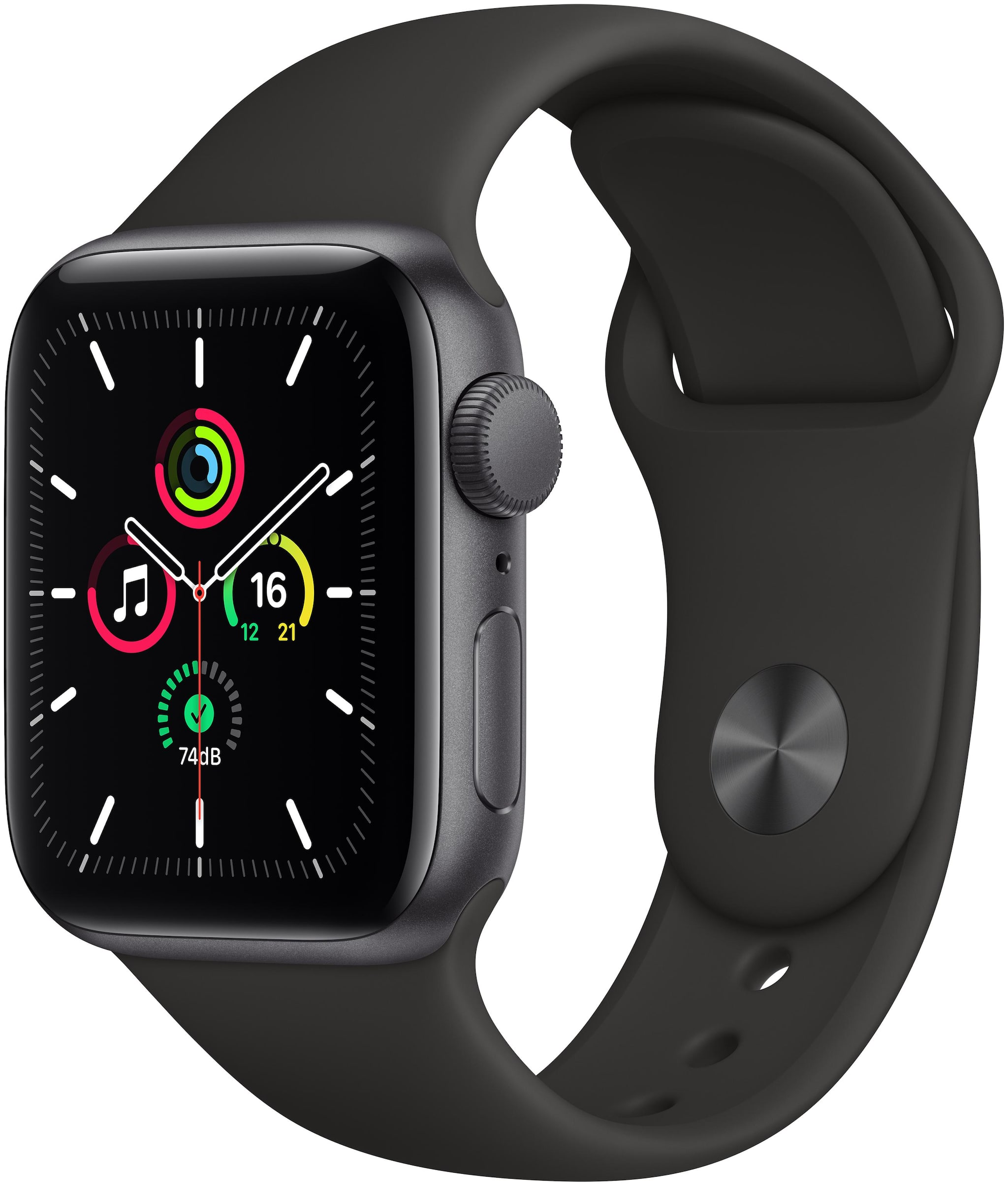 Apple Watch Se GPS 40mm Space Black Aluminium Case With Black Sport...