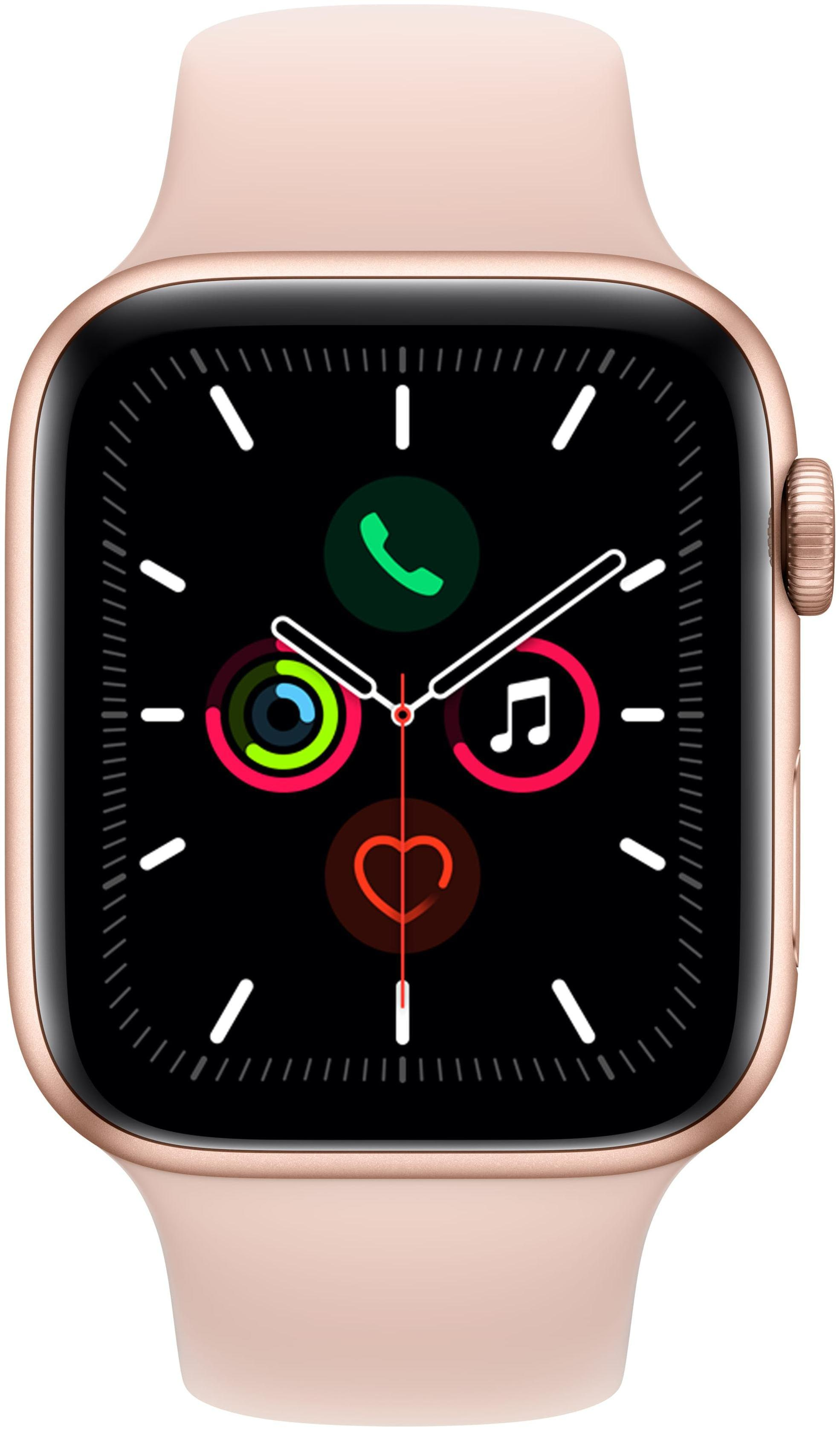 Apple Watch Series 5 GPS 44mm Gold Aluminium Case with Pink Sand...