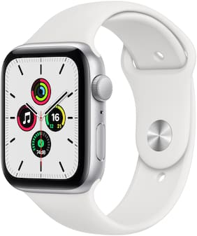 Apple Watch SE GPS 44mm Silver Aluminium Case With White Sport Band - Regular