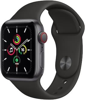 Apple Watch SE GPS + Cellular 40mm Space Black Aluminium Case With Black Sport Band - Regular