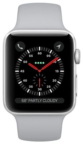 Apple Watch Series 3 GPS;42mm Silver Aluminium Case with Fog Sport Band