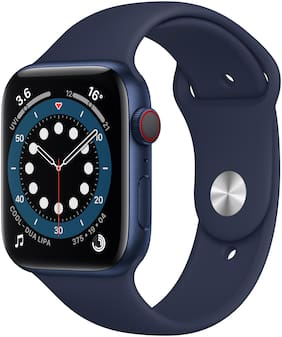 Apple Watch Series 6 GPS + Cellular 44mm Blue Aluminium Case With Deep Navy Sport Band - Regular