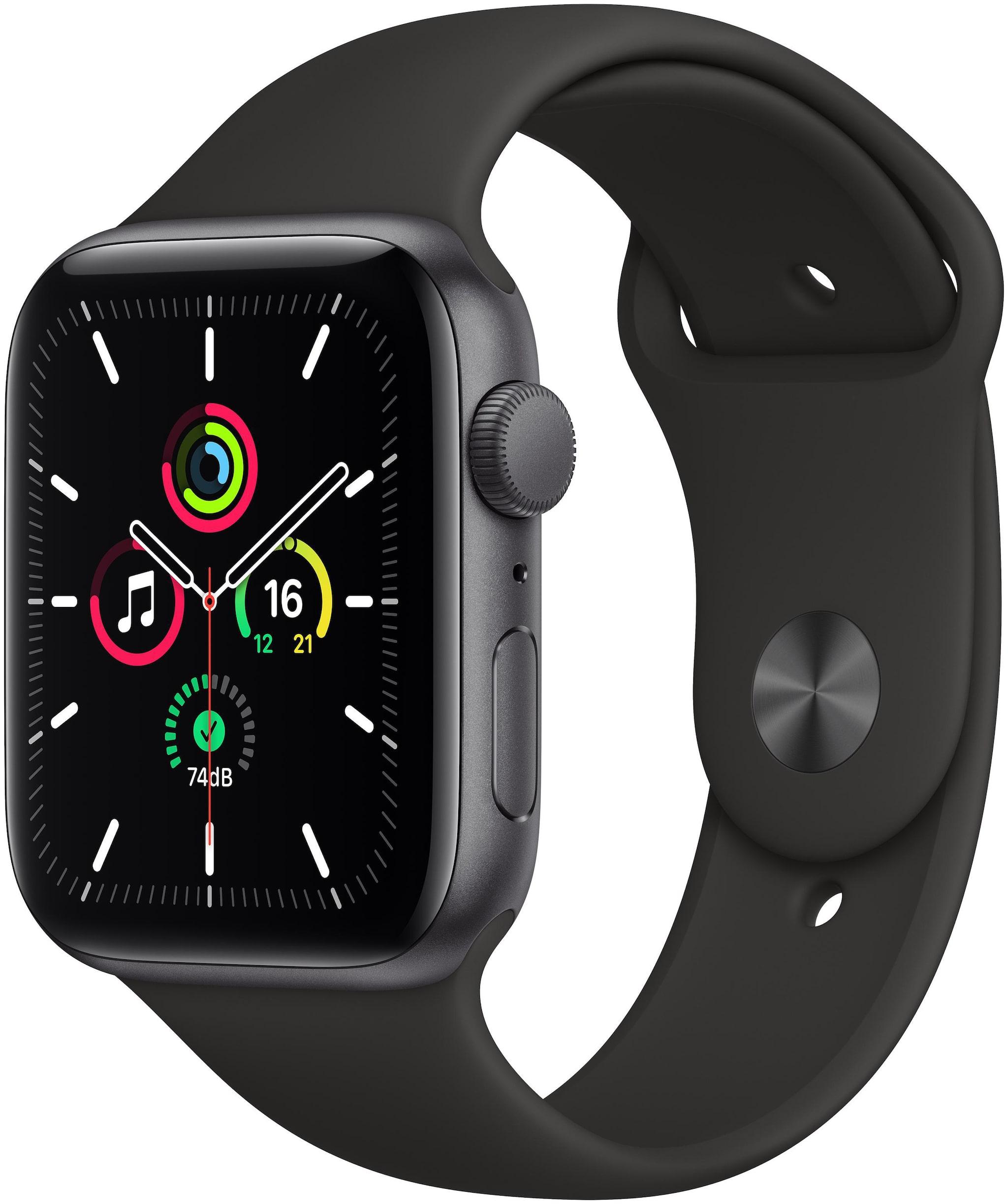 Apple Watch Se GPS 44mm Space Black Aluminium Case With Black Sport...