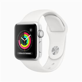 Apple Watch Series 3 GPS  38 mm Silver Aluminium Case with Fog Sport Band (White Strap Regular)