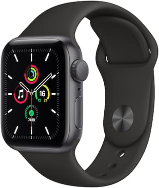 Apple Watch Se GPS 40mm Space Black Aluminium Case With Black Sport Band - Regular