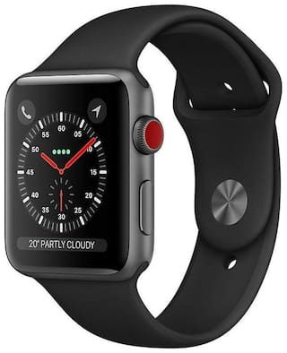 Apple Watch Series 3 GPS  Cellular42mm Space Grey Aluminium Case with Black Sport Band