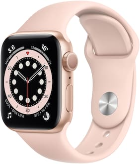 Apple Watch Series 6 GPS 40mm Rose Gold Aluminium Case With Pink Sport Band - Regular