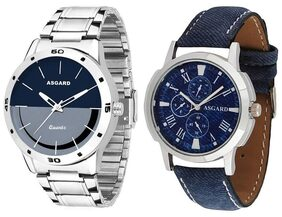 ASGARD  Combo of Blue and Black Dial Watch for Men  Boys-154-BRCP
