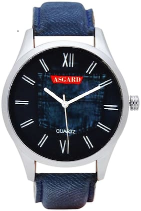 Asgard Analog Blue Dial Watch For Men Sb-18
