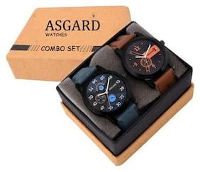 Asgard Analogue Multi-Color Dial Watches For Boys & Mens (Pack of 2)