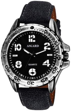 Asgard Analog Black Dial Leather Strap Men's Watch-GR-GR-89
