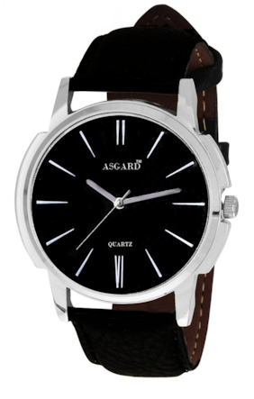 Asgard Black Round Analog Watch