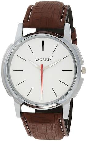 Asgard Brown Leather Analog Watch