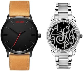 Asgard Couple Combo Of Watches