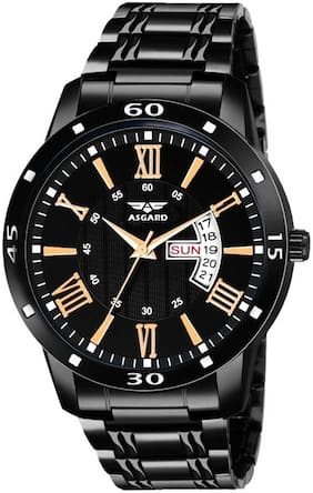 ASGARD Day & Date Feature Black Watch for Men;Boys (Black)