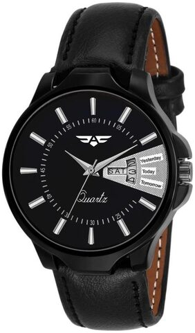 ASGARD Day & Date Feature Black Dial Watch For Men  Boys