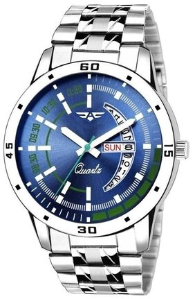 ASGARD Day n Date Feature Blue Dial Watch For Men, Boys-186-DD-21