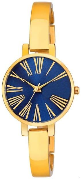 ASGARD IGP Golden Chain Blue Dial Watch For Girls, Women-194-IGP-BLUE